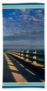 Bahia Honda Bridge In The Florida Keys Bath Towel