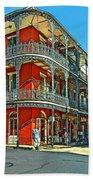 Balconies Painted Bath Towel