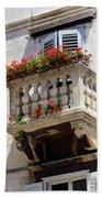 Balcony In Split Croatia Bath Towel