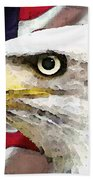 Bald Eagle Art - Old Glory - American Flag Hand Towel