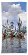 Balinese Fishing Boats Bath Towel