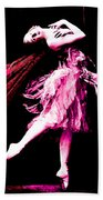 Ballerina Wings Pink Portrait Art Bath Towel