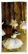 Ballet Rehearsal On Stage Bath Towel
