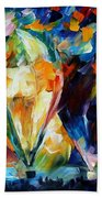 Balloon Parade - Palette Knife Oil Painting On Canvas By Leonid Afremov Bath Towel