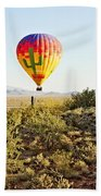 Balloon Ride Over The Desert Bath Towel