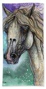 Balon Polish Arabian Horse Portrait 4 Bath Towel