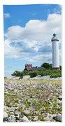 Baltic Sea Lighthouse Bath Towel