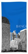Bangkok Thailand Skyline 2 - Blue Bath Towel