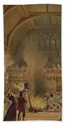 Banquet In The Baronial Hall, Penshurst Bath Towel