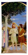 Baptism Of Christ - Oil On Canvas Bath Towel