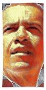 Barack Obama American President - Red White Blue Bath Towel