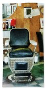 Barber - Barber Chair Front View Bath Towel