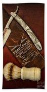 Barber - Tools For A Close Shave  Bath Towel