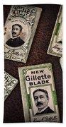 Barber - Vintage Gillette Razor Blades Bath Towel