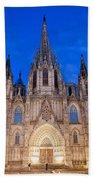 Barcelona Cathedral At Night Bath Towel