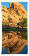 Barker Dam Pond Reflections Bath Towel