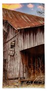 Barn At Sunset Bath Towel