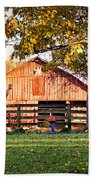 Barn Through The Trees Hand Towel by Cricket Hackmann