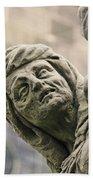 Baroque Statue Depicting Avarice Bath Towel