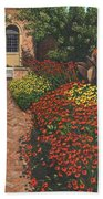 Barrington Court Gardens Somerset Bath Towel