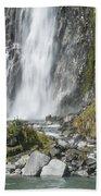 Base Of Thunder Creek Falls Bath Towel