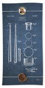 Baseball Bat By Lloyd Middlekauff - Vintage Patent Blueprint Bath Towel