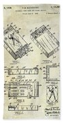 Baseball Card Game Bath Towel