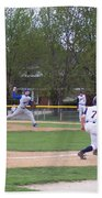 Baseball Pitcher The Delivery Bath Towel