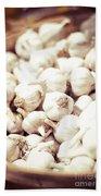 Basket Of Garlic Bath Towel