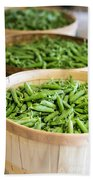 Baskets Of Fresh Picked Peas Hand Towel