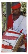 Bass Drummer Labadee Haiti Bath Towel