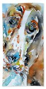 Basset Hound - Watercolor Portrait.1 Bath Towel