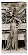 Batak Warriors In Indonesia 1870 Bath Towel