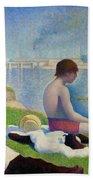Bathers In Asnieres Bath Towel