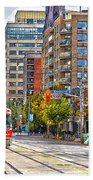 Bathurst Street Car Coming North To Queen Street Hand Towel