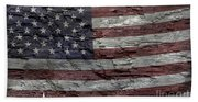 Battered Old Glory Bath Towel