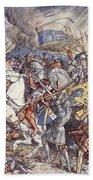 Battle Of Fornovo, Illustration Bath Towel