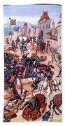 Battle Of Nevilles Cross 1346 Bath Towel