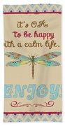 Be Happy Bath Towel