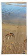 Beach And Rippled Water. Bath Towel