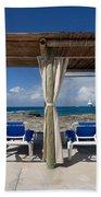 Beach Cabana With Lounge Chairs Bath Towel