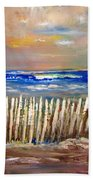 Beach Fence Bath Towel