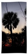 Beach Foliage At Sunset Hand Towel