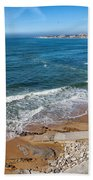 Beach In Resort Town Of Estoril Bath Towel