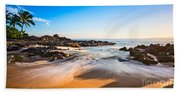 Beach Paradise - Beautiful And Secluded Secret Beach In Maui. Bath Towel