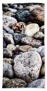 Pebbles On Beach Bath Towel