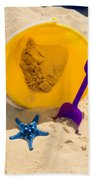 Beach Sand Pail And Shovel Bath Towel