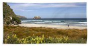 Beach Scene Otago Peninsula South Island New Zealand Bath Towel