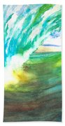 Beach View From Wave Barrel Bath Towel