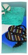Beachy Things - Aqua Blue Bath Towel